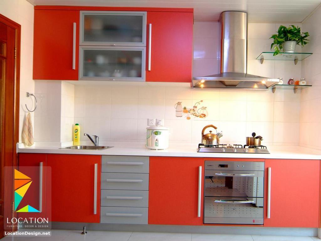بالصور أفكار وتصميمات مطابخ مودرن صغيرة المساحة 2018 2019 لوكشين ديزين نت Simple Kitchen Remodel Red Kitchen Cabinets Kitchen Remodel Small