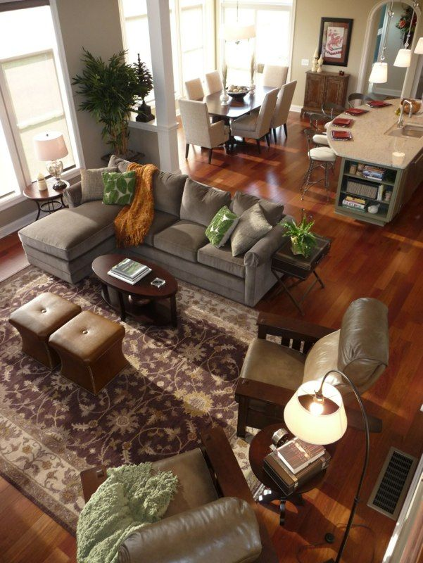 Neutral durable furnishings and dark Brazilian cherry