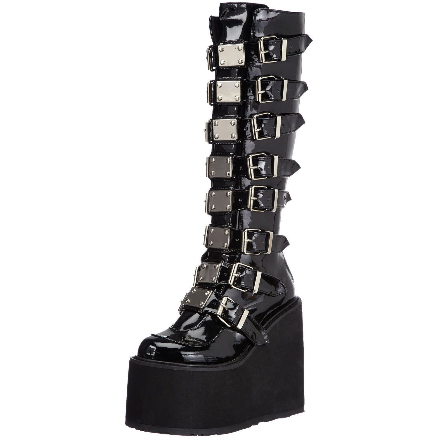 Demonia SWING-815 Damen Stiefel, Schwarz (Blk Pat), EU 36 (UK 3) (US 6)