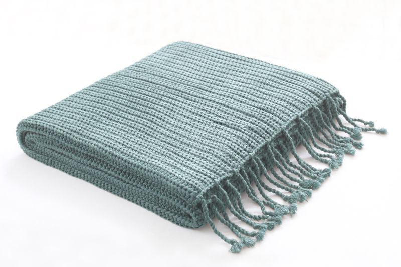 aqua throw (for couch?)