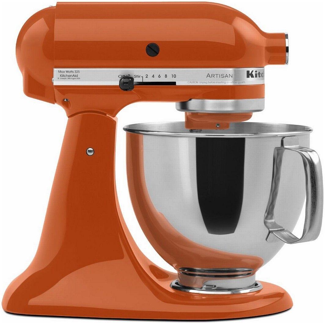 Kitchen aid persimmon ksm150pspn orange kitchenaid mixer