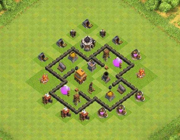 Gambar Base Coc Th 4 Terkuat 11