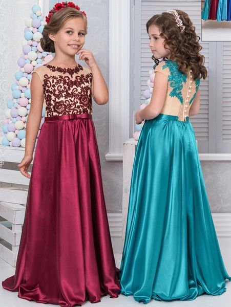 The Off White Flower Girl Dresses Which Match The Flowers Cheap Lace Arabic 2017 Flower Gi Girls Pageant Dresses Wedding Dresses For Girls Girls Dresses Online