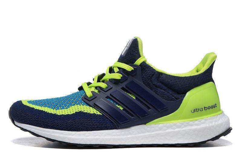 Adidas Ultra Boost B27171 BlueShineGreen Runner Shoes