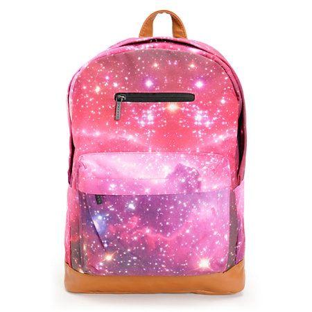 Pink And Purple Galaxy Bookbag