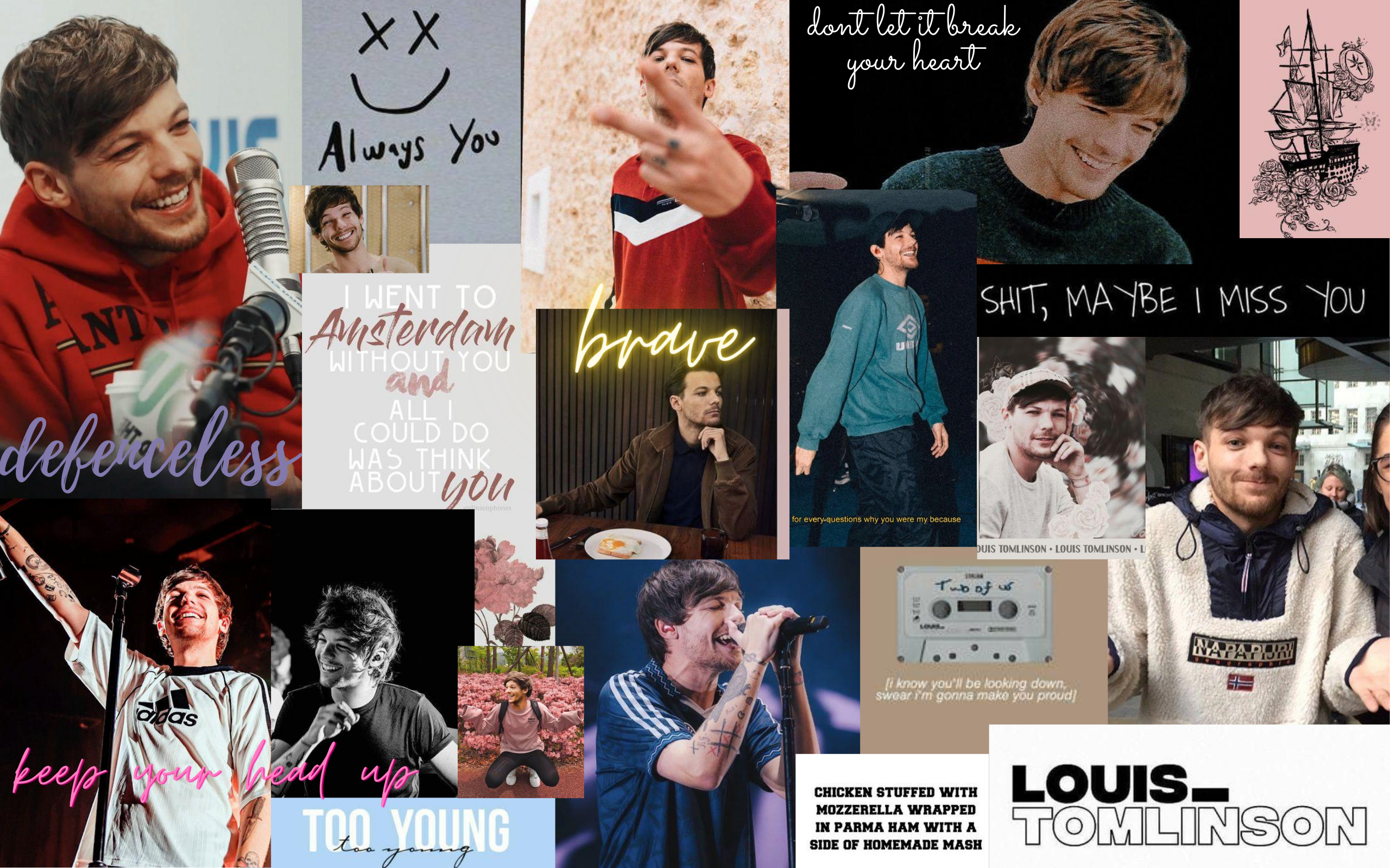 Louis Tomlinson Wallpaper In 2020 Aesthetic Desktop Wallpaper Macbook Wallpaper One Direction Wallpaper