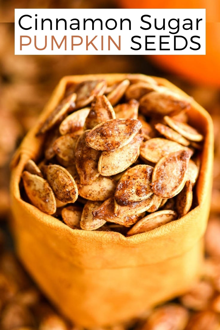 Homemade Cinnamon Sugar Pumpkin Seeds - JoyFoodSunshine