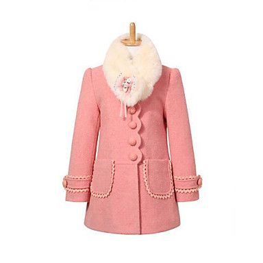 a9502f7976f5 27.40  Kids Girls  Daily Patchwork Long Sleeve Long Polyester Jacket ...