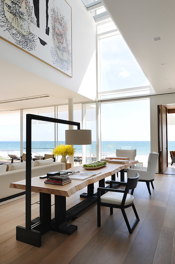 Modern wooden dining table, a modern dining room set for the Malibu Beach house a Twelve Projects selection by Christian Liagre