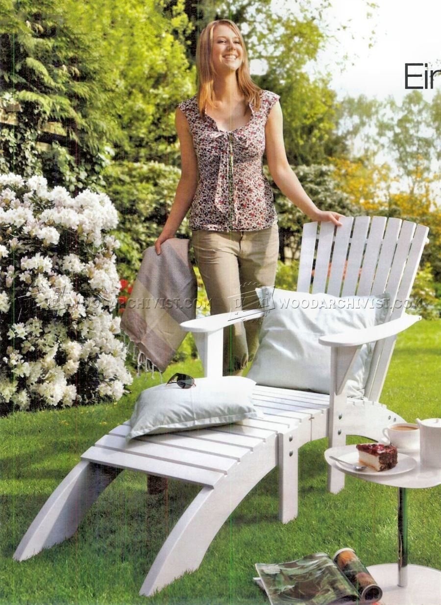 Adirondack Chair And Footrest Plans   Outdoor Furniture Plans