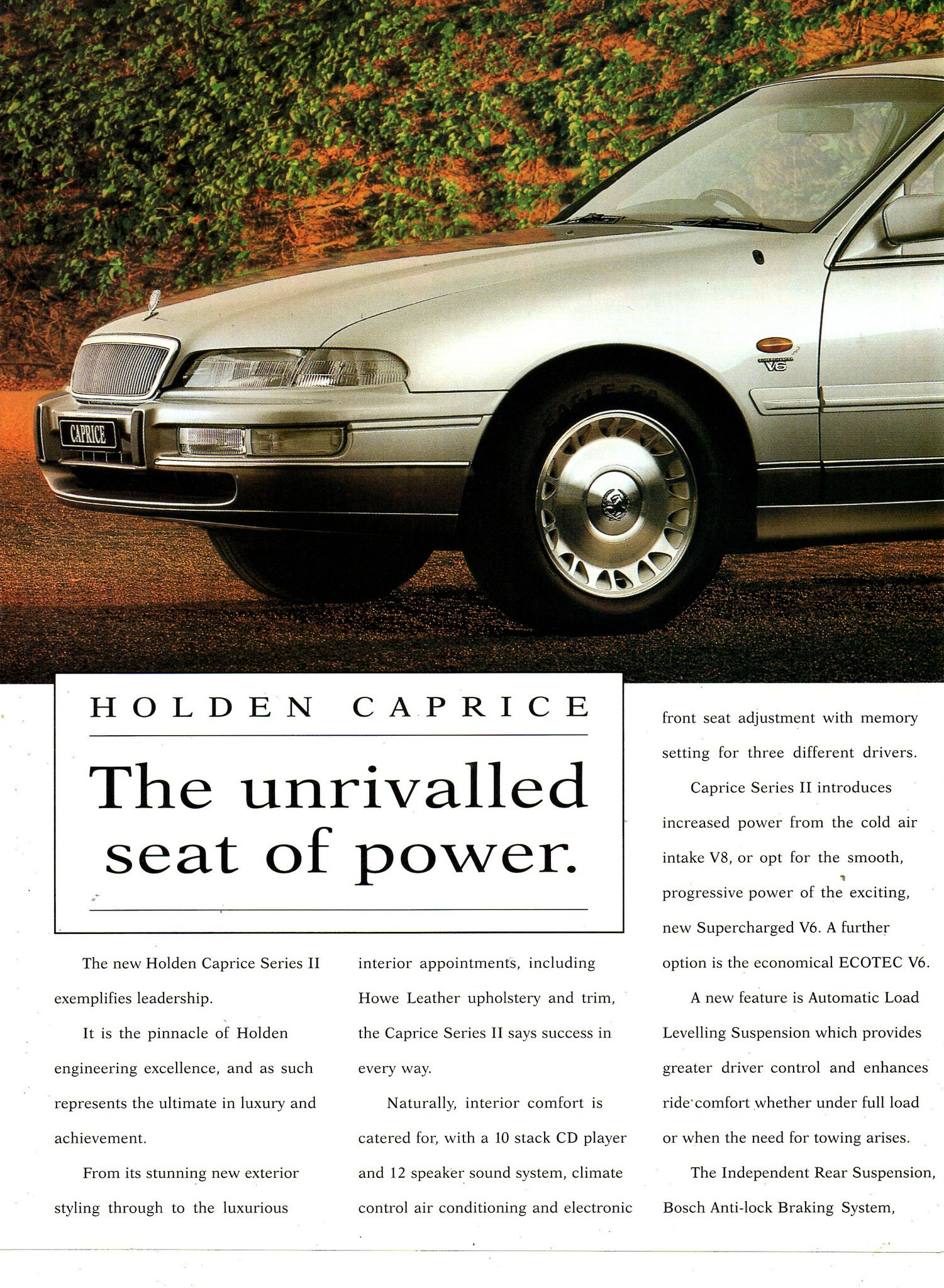 1996 VS Caprice Series II By Holden Page 1 Aussie Original