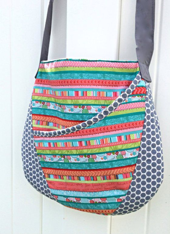 Easy Oval Messenger Bag - Free Sewing Pattern | sew bags | Pinterest ...