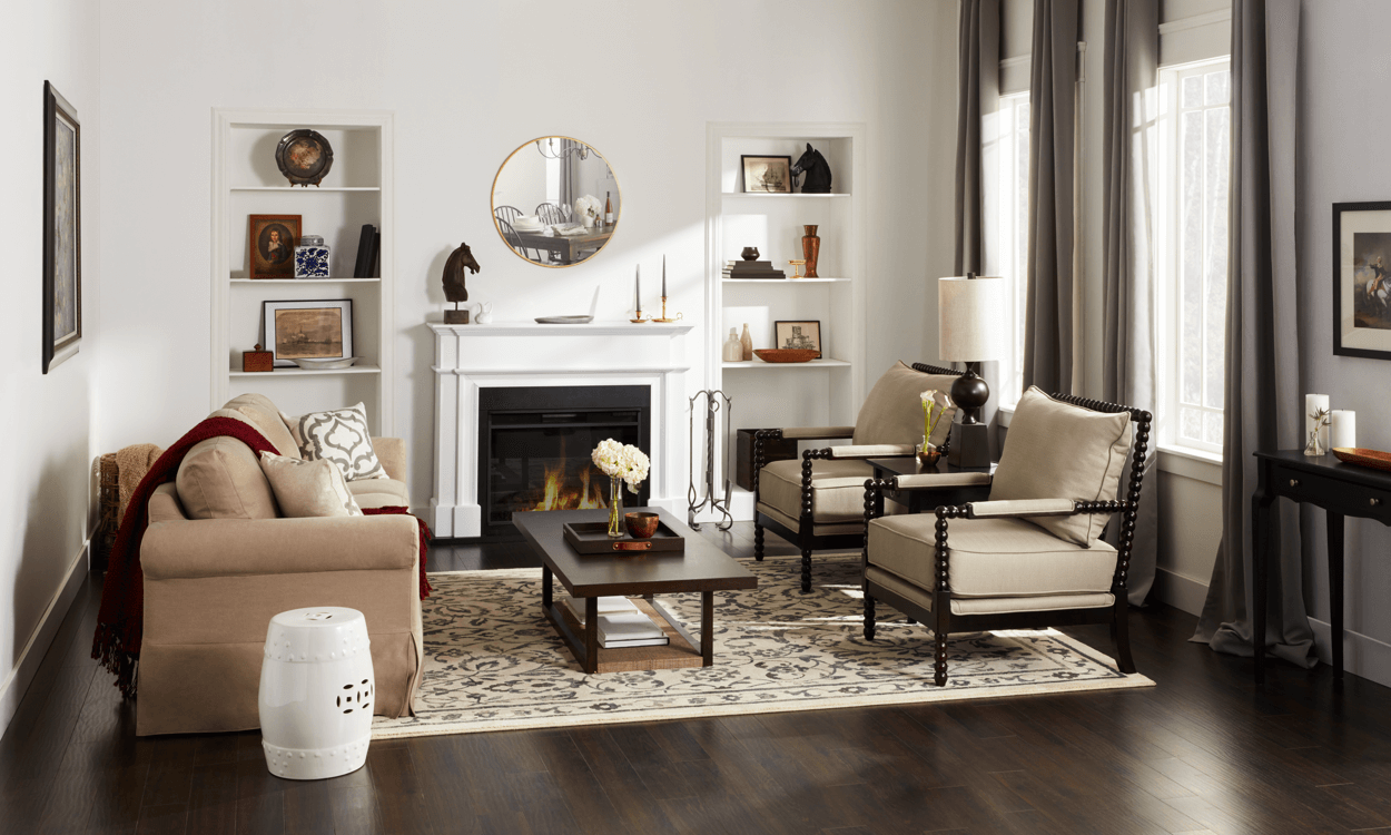 Get Elegant With Cozy Colonial Style Decor Overstock Com Colonial Living Room Colonial Style Homes Colonial Style