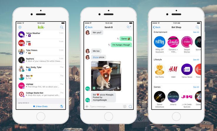 Kik users have exchanged over 1.8 billion messages with