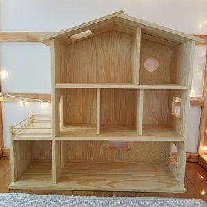 Maison de poupée en bois fait à la main bio/naturel en bois Dollhouse Waldorf, Montessori, fabriqués à la main jouet, jouets #dollhouse