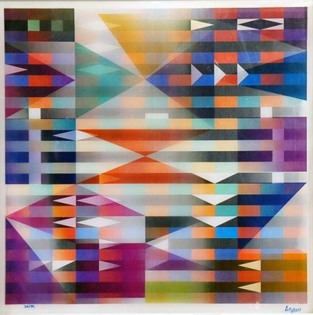 Yaakov Agam - Meridia from Mexico Suite, 1985