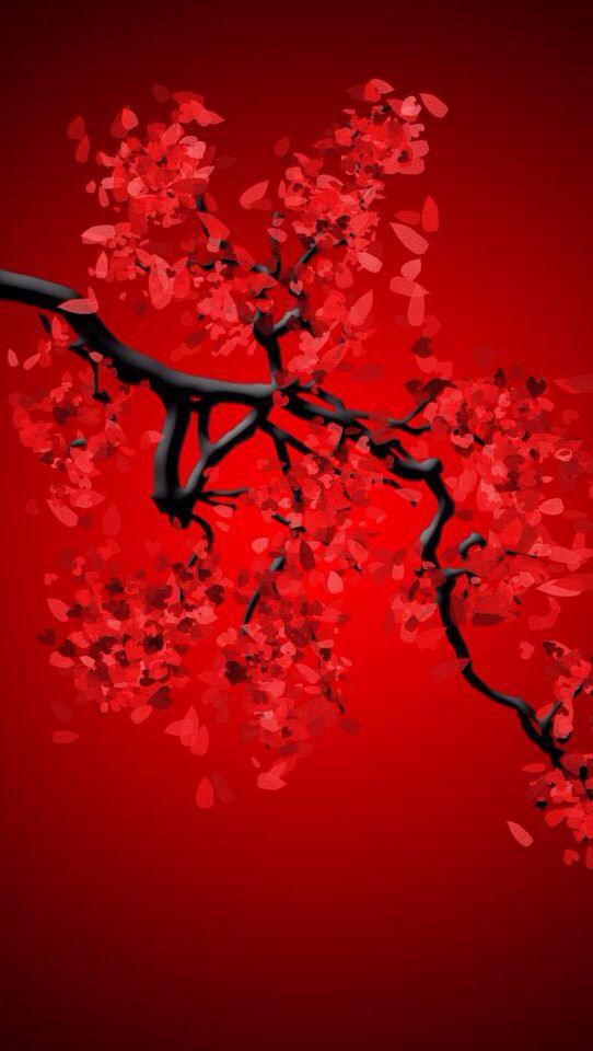 Red Tree Red And Black Wallpaper Red Background Images Red Wallpaper