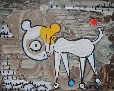 """Saatchi Art Artist MISHA DONTSOV; Painting, """"My Favorite Pet """" #art"""
