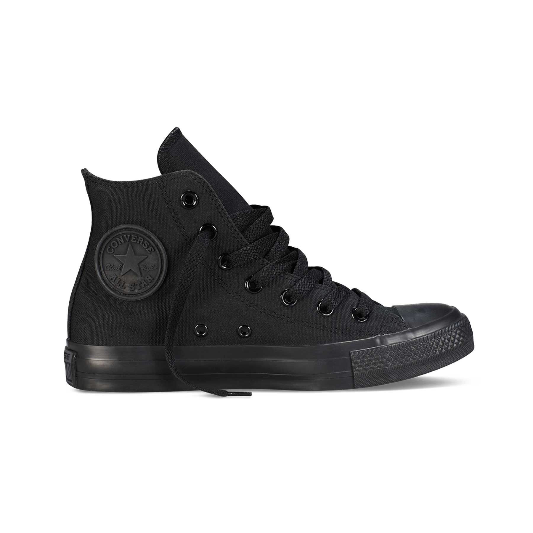 converse all star pizzo nere