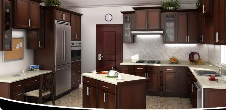 Iks Mocha Shaker Rta Kitchen Cabinetry Cabinets Discount ...