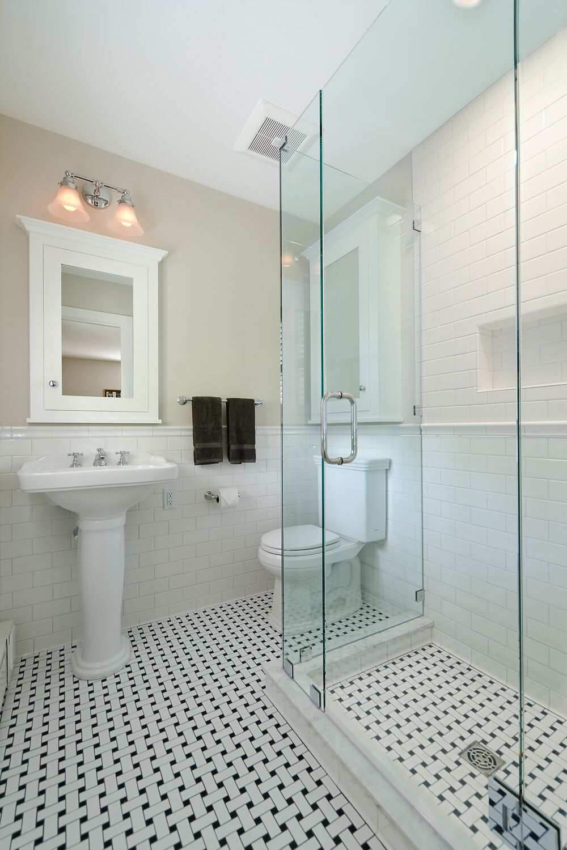 Pin By Dee Wilson On Tile Bathrooms Tile Bathroom Basketweave Tile Bathroom Bathroom Design