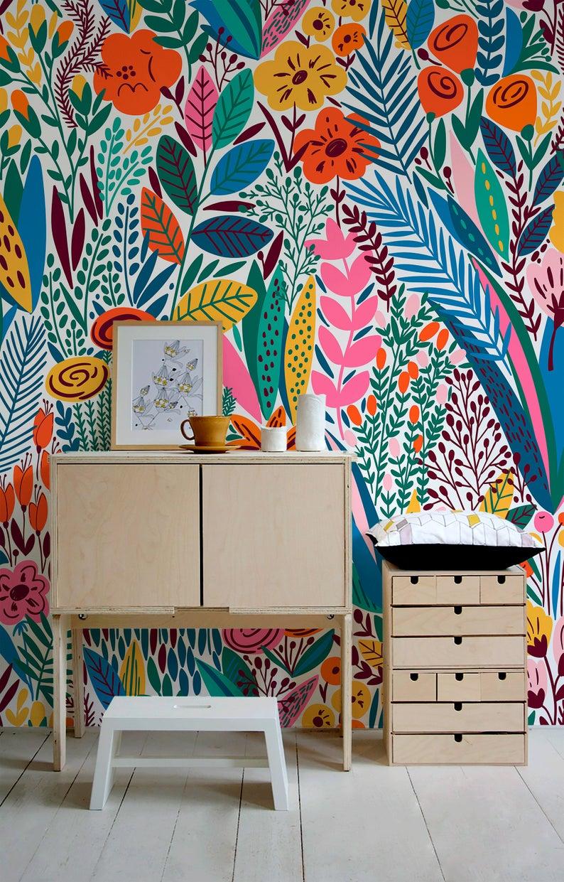 Removable Wallpaper Scandinavian Wallpaper Temporary