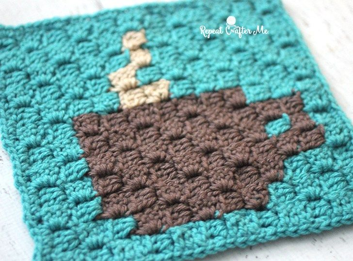 Starbucks Spring Beverages and Crochet C2C Coffee Cup Granny Square ...