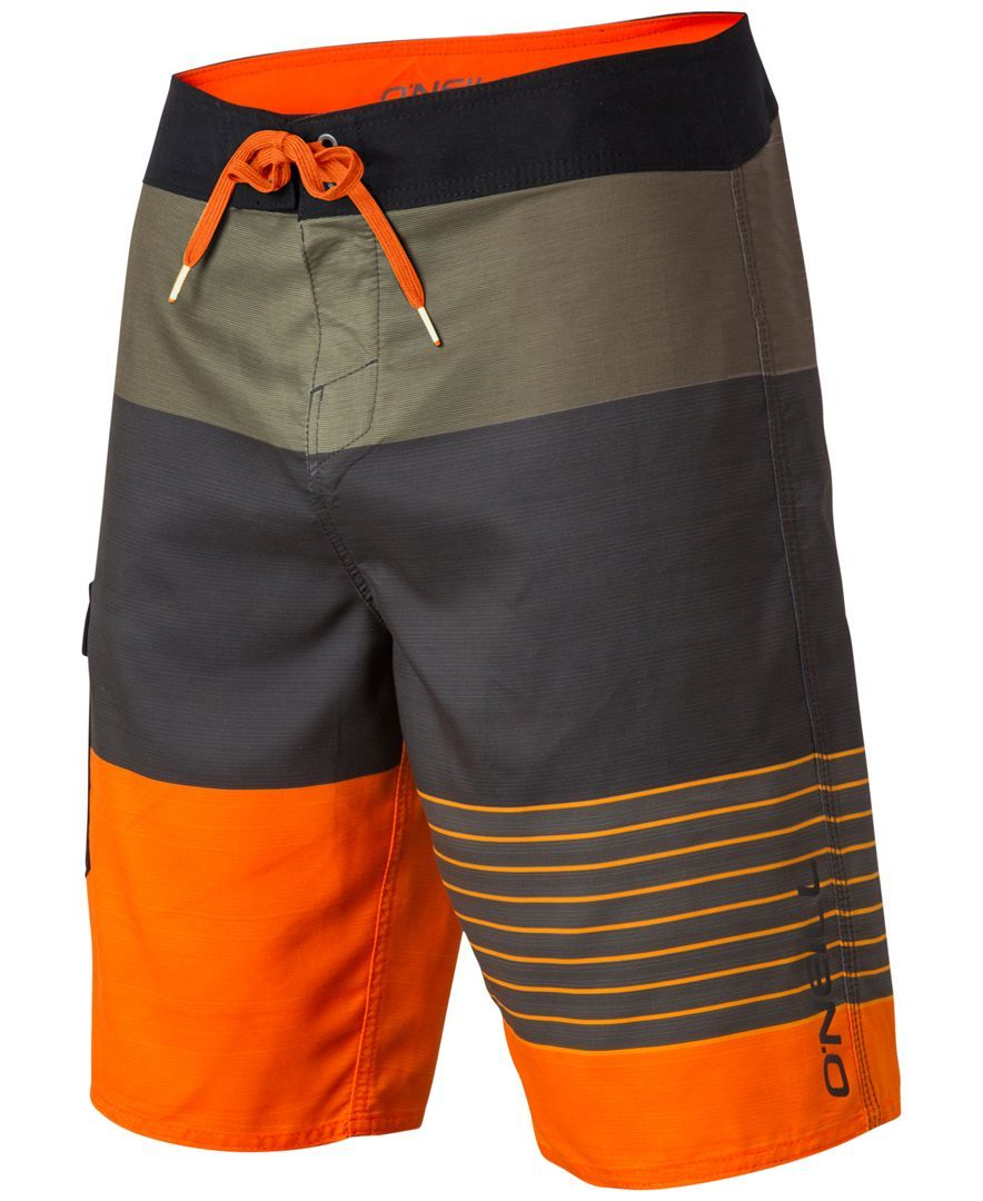 1555379334 Make a splash in these super attractive Lennox colorblocked swim trunks  from O'Neill. | Polyester | Machine washable | Imported | Drawstring waist  ...