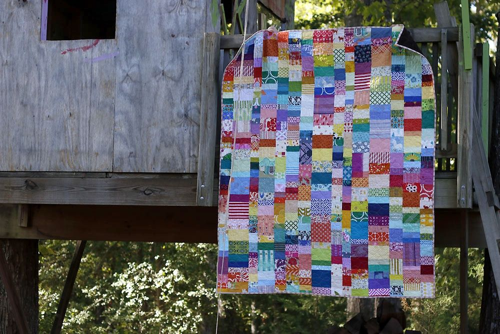 Rainbow Falls patchwork quilt #rainbowfalls