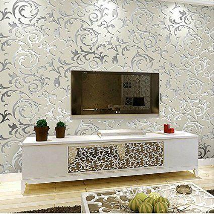 Schlichtheit europ isch heim tapete umweltschutz for Wohnzimmer dekoration silber