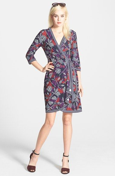 94028a69a8dcf BCBGMAXAZRIA  Adele  Print Matte Jersey Wrap Dress available at  Nordstrom