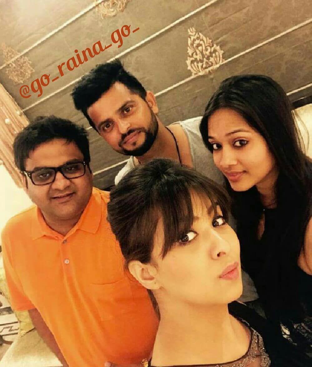 Suresh Raina with his friends at kanpur .. . go_raina_go