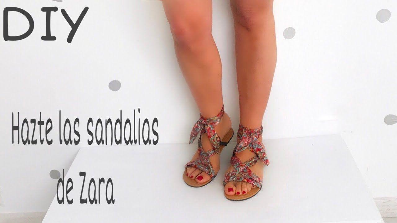 TRANSFORMA UNAS SANDALIAS en las sandalias lazo de ZARA