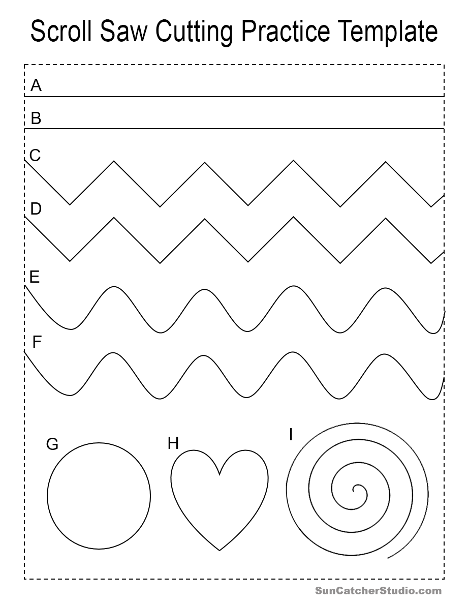 practice pattern for the scroll saw or band saw