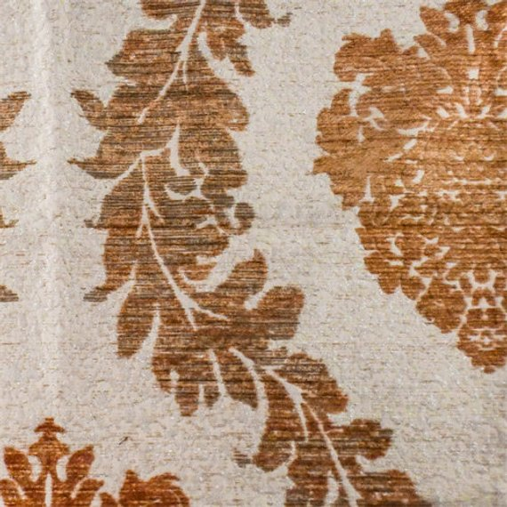 Tabasco Brown/Ivory Acanthus Chenille Home Decorating Fabric, Fabric ...