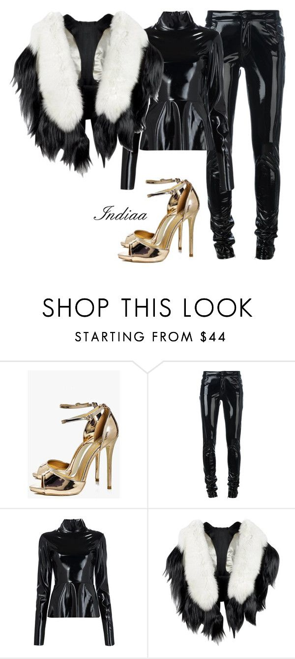 """Untitled #4018"" by teastylef ❤ liked on Polyvore featuring Boohoo, Anthony Vaccarello and Tome"