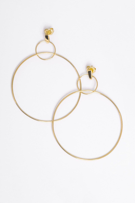 double drop hoop earrings style gold earrings hoop. Black Bedroom Furniture Sets. Home Design Ideas