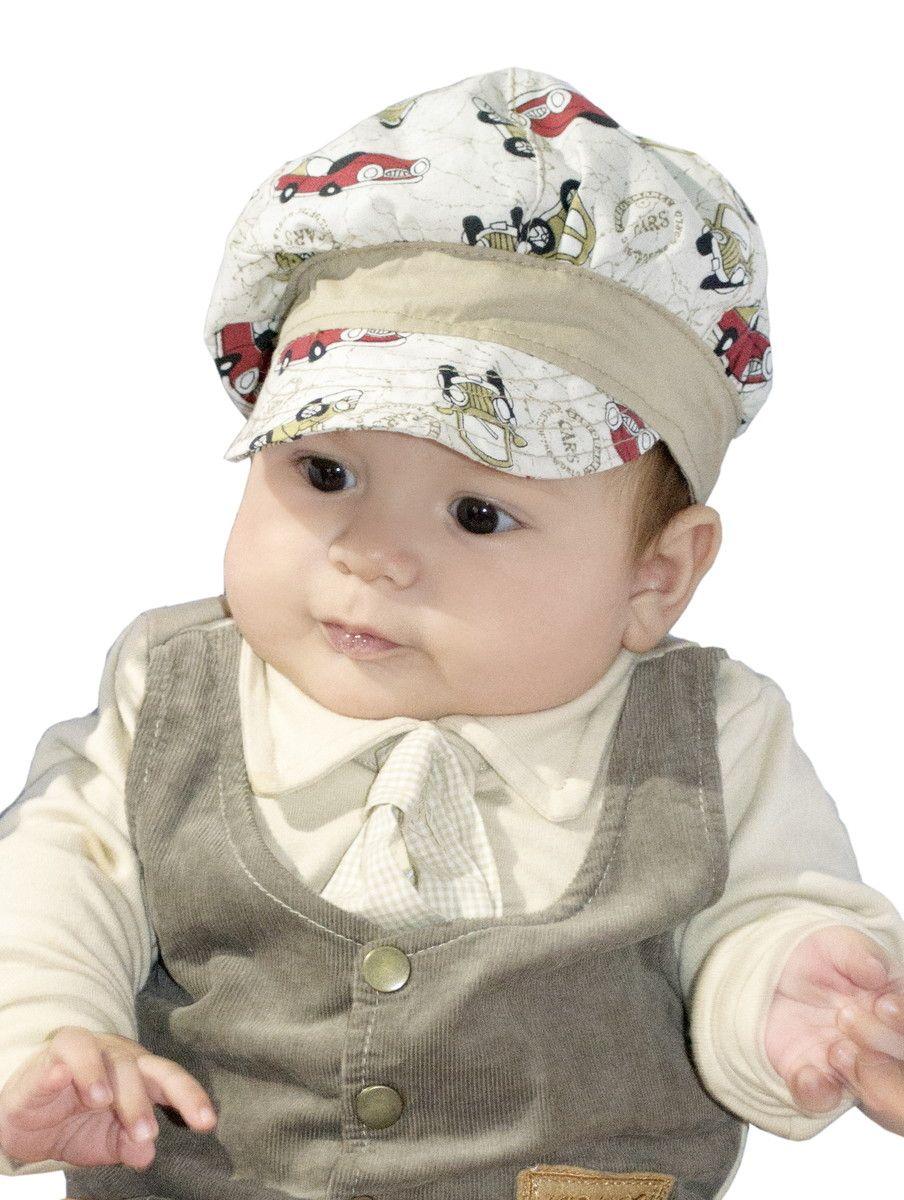 f639af0a534ed Boina infantil masculina em tecido leve. Feita para seu bebê curtir o verão  em grande estilo e ainda protegido do sol. Confira
