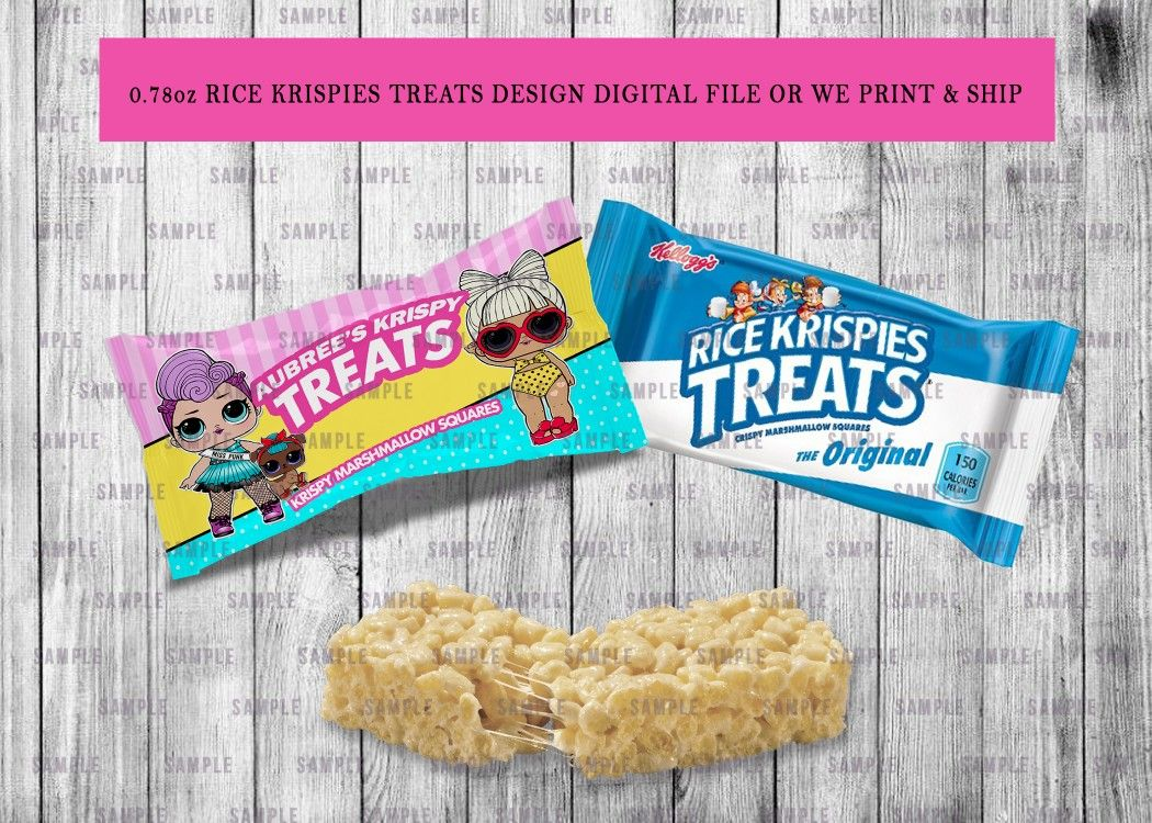 Rice Krispies Treats Wrappers Birthday or Baby Shower ...