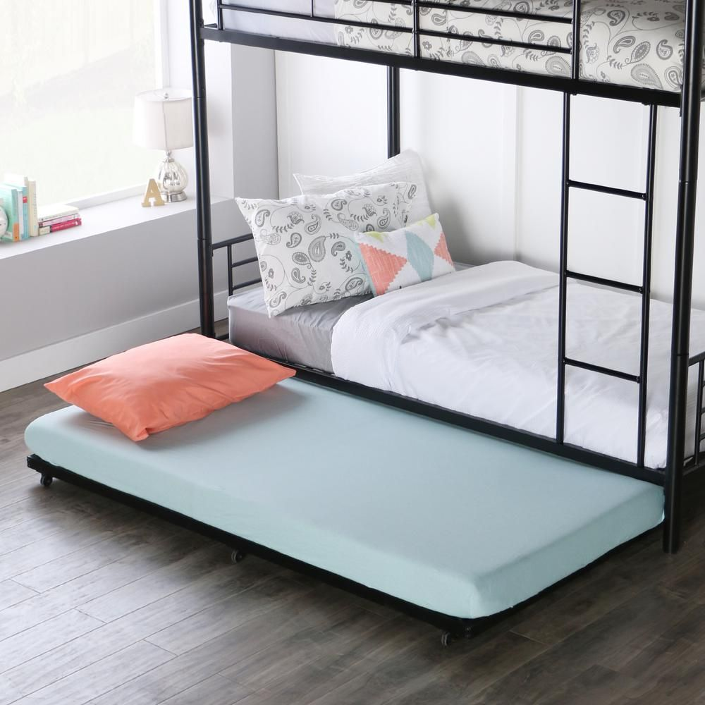 Walker Edison Furniture Company Twin Roll Out Trundle Bed Frame