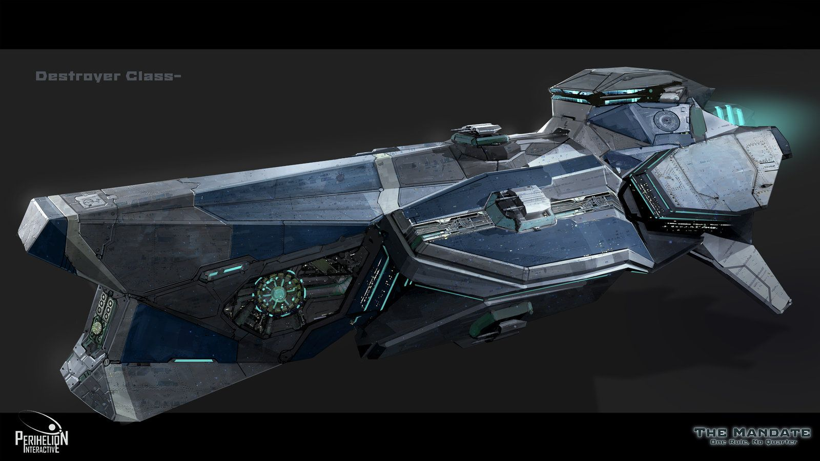 Concept destroyer class by garretaj on deviantart for Space concept