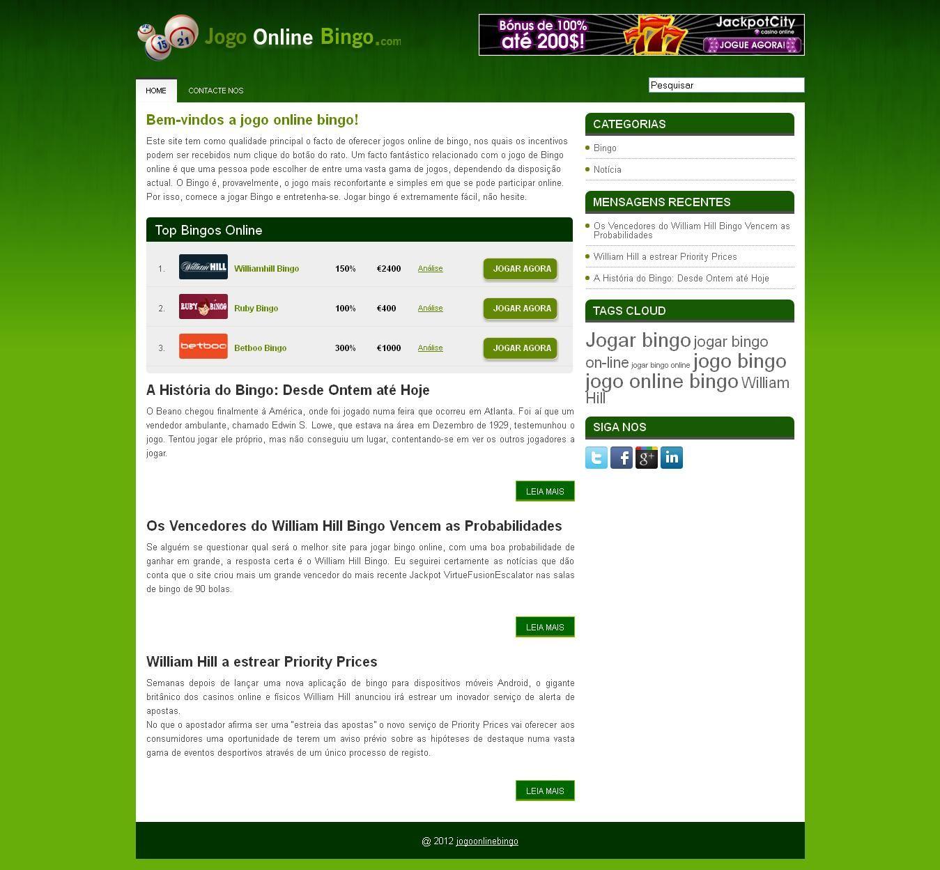 Bem Vindos A Jogo Online Bingo Este Site Tem Como Qualidade Principal O Facto De Oferecer Jogos Online De Bi Cool Things To Buy Cool Typography Make Me Laugh