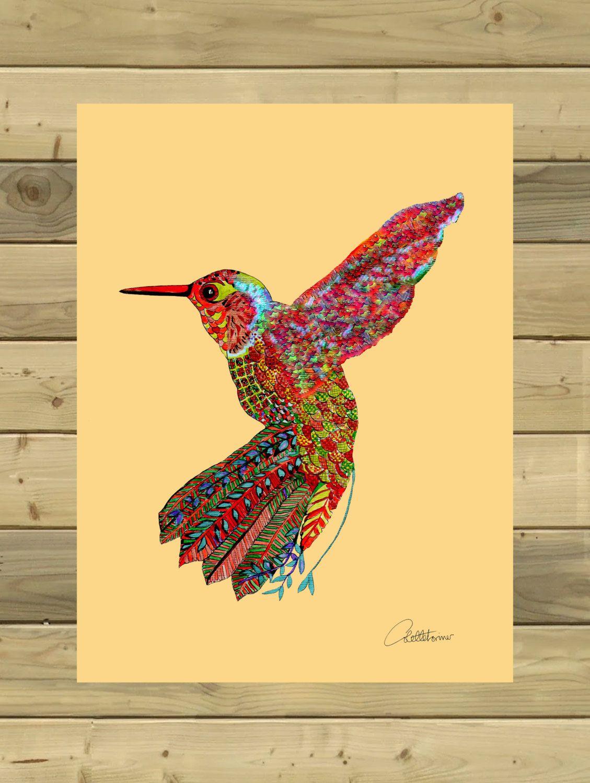 Hummingbird Print Hummingbird Picture Hummingbird Doodle Art ...