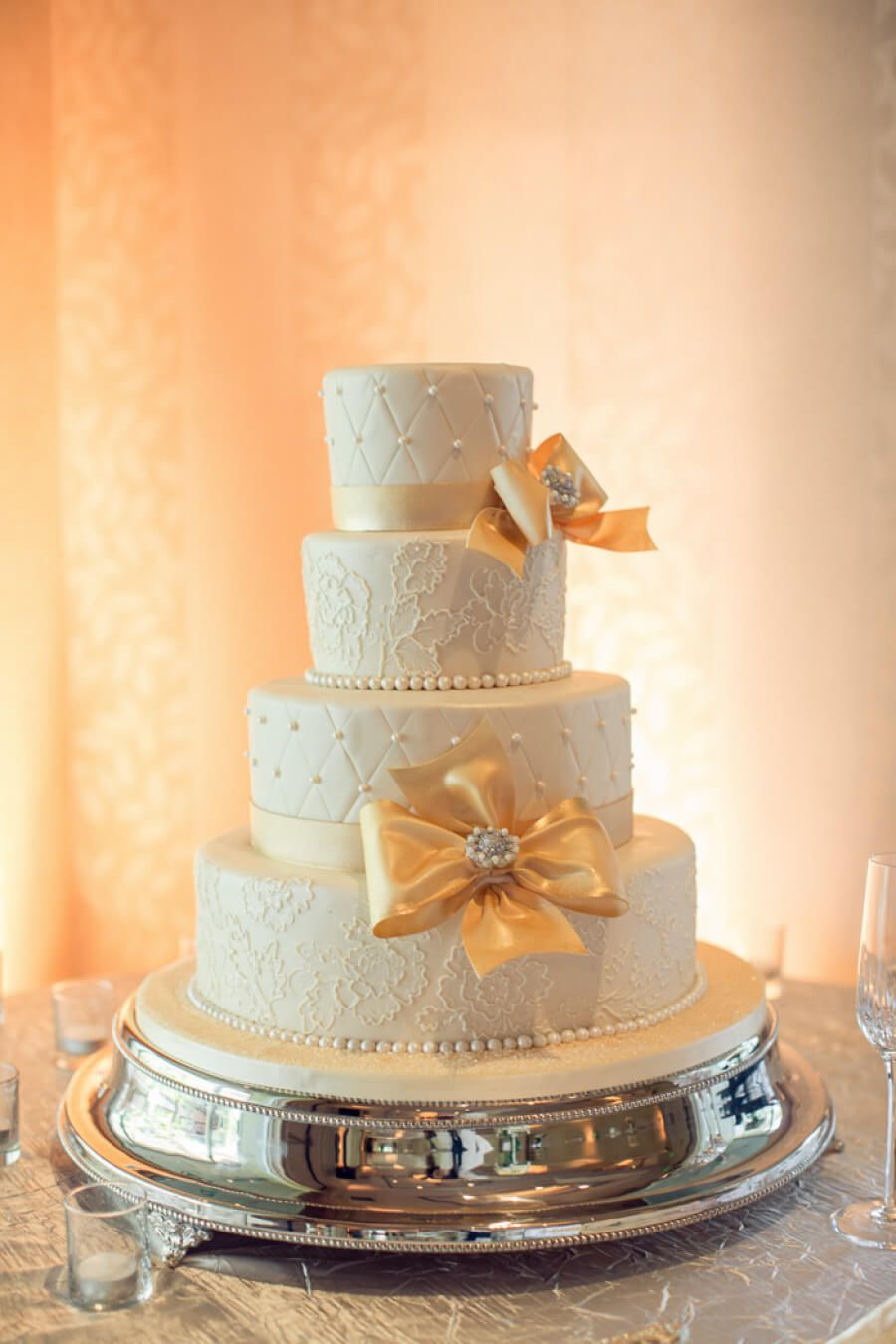 Silver plated wedding cake stand cake and wedding