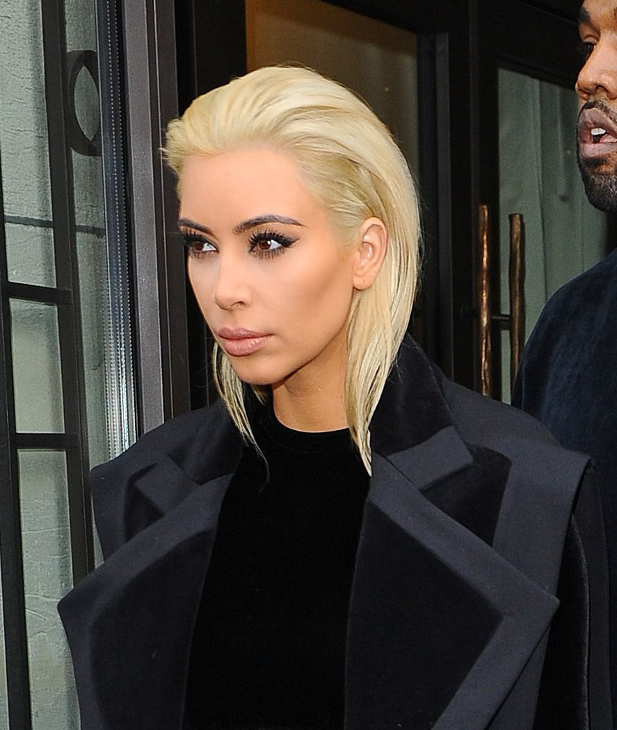 H kim kardashian με πλατινέ μαλλί celebrity pictures pinterest