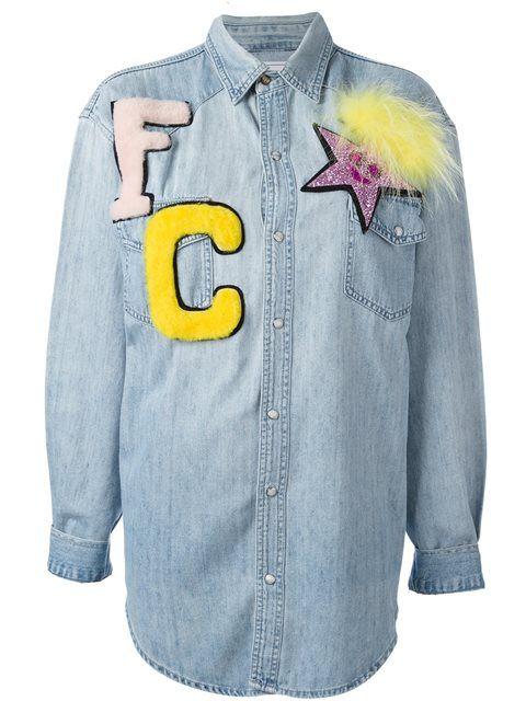 FORTE COUTURE denim patch shirt. #fortecouture #cloth #shirt