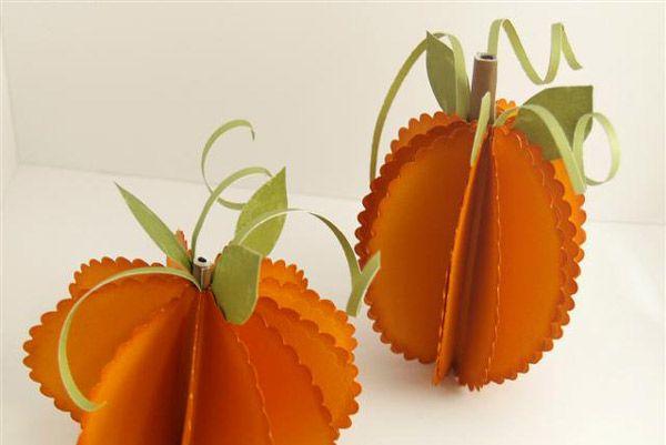 Ideas para hacer calabazas de papel Thanksgiving parties, Paper - halloween crafts ideas