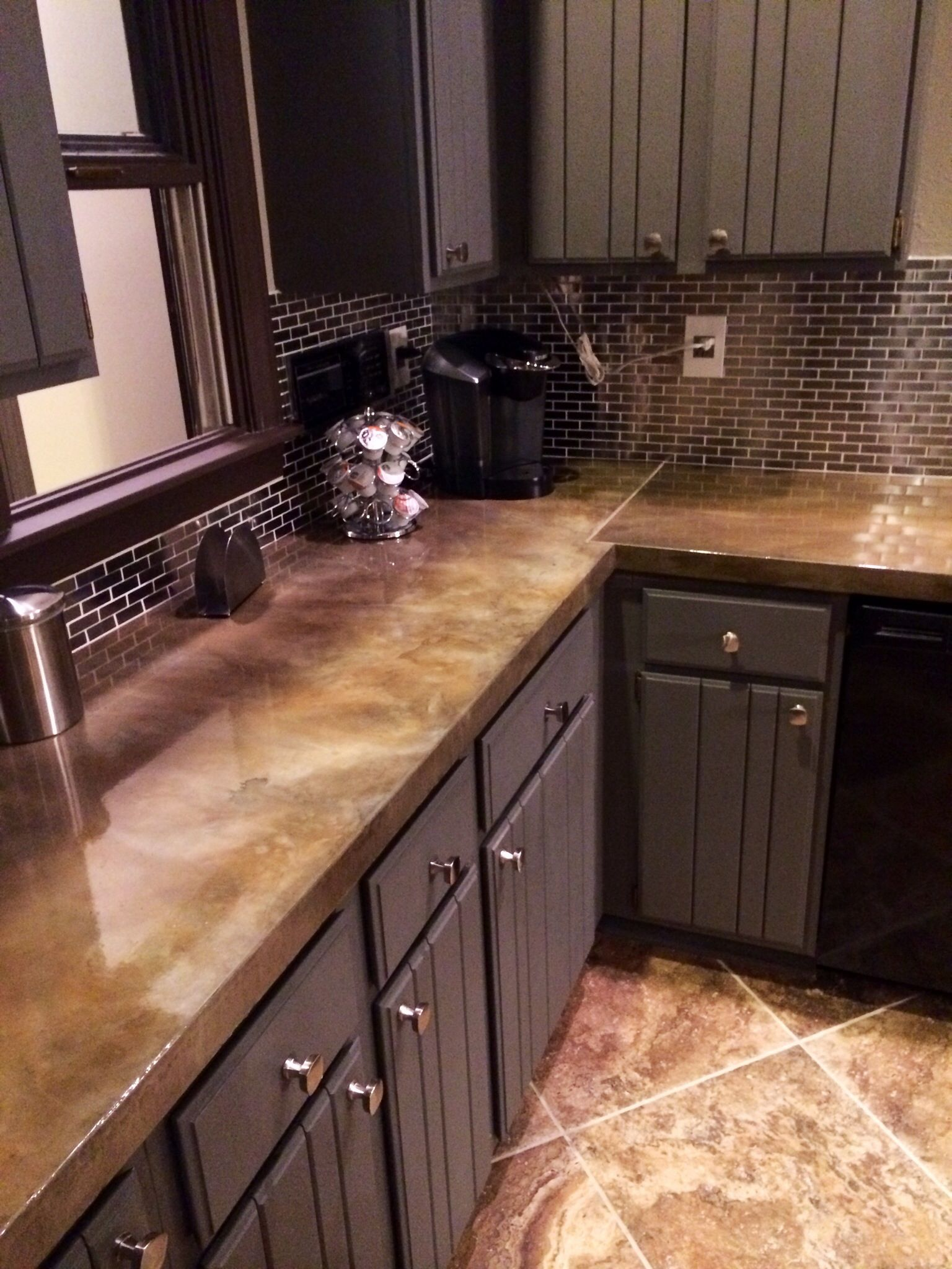 Concrete countertop Concrete countertops kitchen