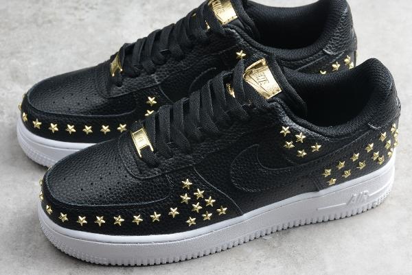 AR0639 001 WMNS Nike Air Force 1 XX Star Studded Black 2019 For Sale
