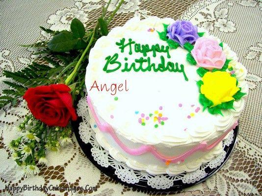 Birthday Cakes With Name Sudha ~ Write name on rose birthday cake image happy birthday cake images